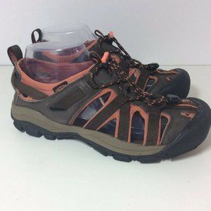 KEEN Brown Leather Casual Trail Shoes Womens